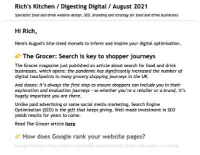 Richs Kitchen Website Digesting Digital Example Image